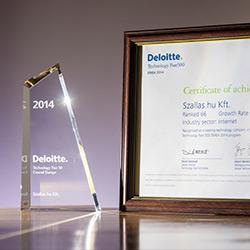 Deloitte 2014 Technology Fast 50 Central Europe I. helyezett