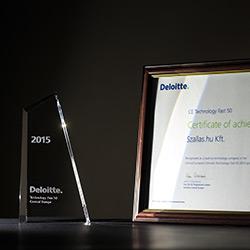 Deloitte 2015 Technology Fast 50 Central Europe III. helyezett